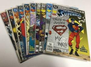 Adventures Of Superman 501-510 Nm Near Mint DC Comics