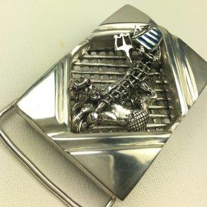 Neptune Viking ship Gents belt buckle sterling silver