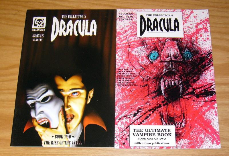 the Collector's Dracula #1-2 VF/NM complete series DAVID MACK brian bendis 1994
