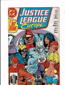 Lot of 7 Justice League Europe DC Comic Books #1 2 3 4 5 6 7 TW44