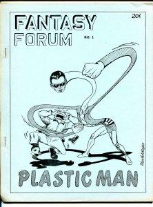 Fantasy Forum #1 1966-Diamond Pub-Bill Schelly-1st issue-Plastic Man-VF
