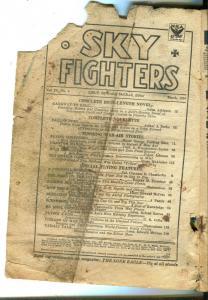 SKY FIGHTERS 03/1934-AIR WAR PULPS-WWI-ARTHUR J BURKS-pr/fr
