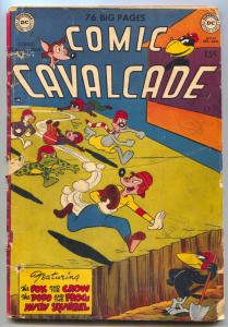 Comic Cavalcade #42-1950-FOOTBALL COVER-DC Funny Animals G-
