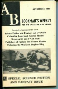 AB Bookman's Weekly 10/24/1983-Sci F- & Fantasy issue-bookseller's info-VG