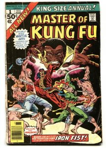 Master of Kung Fu Annual #1 1976 comic book Marvel