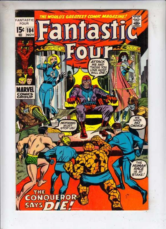 Fantastic Four #104 (Nov-70) VF/NM High-Grade Fantastic Four, Mr. Fantastic (...