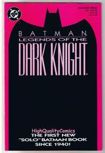 BATMAN: LEGENDS OF THE DARK KNIGHT #1, NM, Shaman, 1989, Hannigan, John Beatty,P