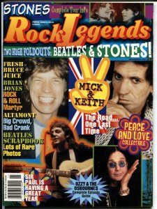 Rock Legends #1 2002-LFB-1st issue-Stones-Beatles-Altamont-pix-info-FN
