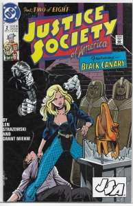 Justice Society of America (vol. 1, 1991) #2 of 8 FN Black Canary, Strazewski