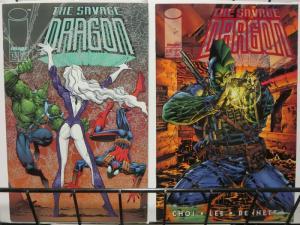 SAVAGE DRAGON (1993 IMAGE) 13  both LARSEN & J.Lee cvrs