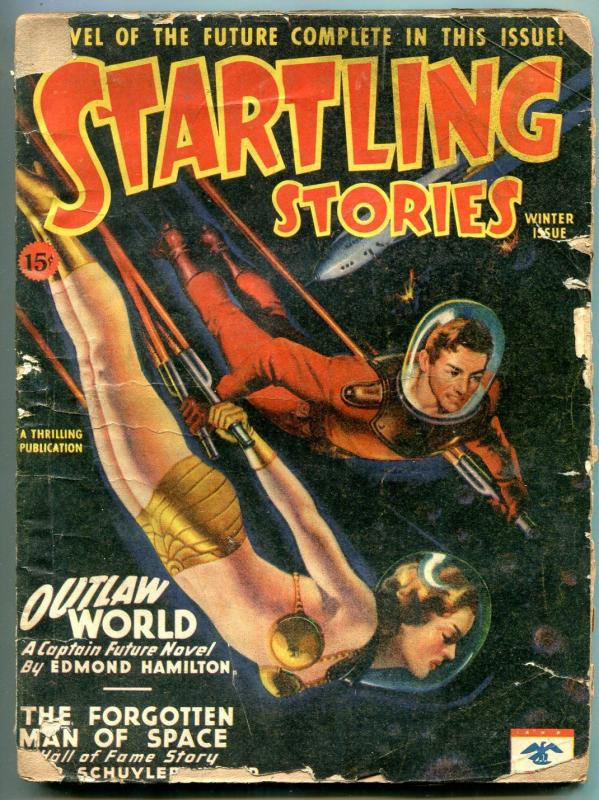 Startling Stories Pulp Winter 1946 CAPTAIN FUTURE Outlaw World FR/G