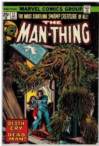 MAN THING (1974) 12 G-VG Dec. 1974