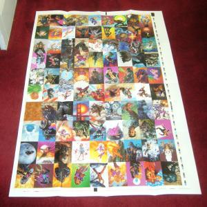 Ultraverse card set poster - 40 x 27.5 - dave dorman - prime mantra hardcase