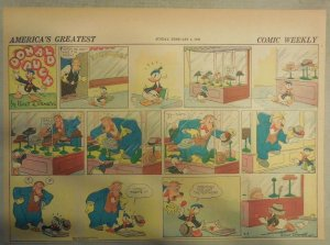 Donald Duck Sunday Page by Walt Disney from 2/4/1940 Half Page Size
