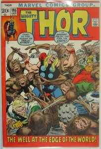 The Mighty Thor #195 - 4.0 VG - 1972