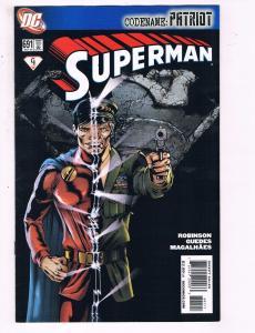 Superman #691 VF DC Comics Codename: Patriot Comic Book Robinson 2009 DE11