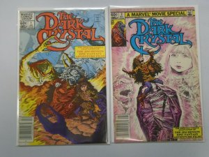 The Dark Crystal set #1+2 Newsstand edition 6.0 FN (1983 Marvel)