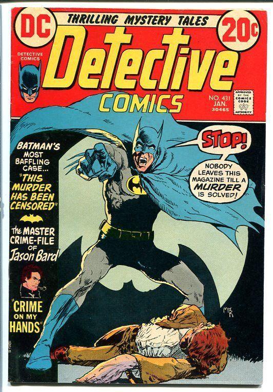 DETECTIVE COMICS #431 1973 BATMAN-JASON BARD FN+