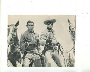 LONE RANGER-TONTO-SILVER-SCOUT-POST CARD- 5 X 7-UNUSED-fn