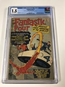 Fantastic Four 3 Cgc 1.5 Cr/ow Pages Marvel Silver Age