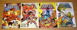 Savage Dragon: God War #1-4 VF/NM complete series written by robert kirkman 2 3