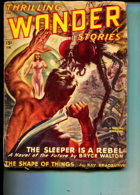 Thrilling Wonder Stories-Pulp-2/1948-Edmond Hamilton-Ray Bradbury