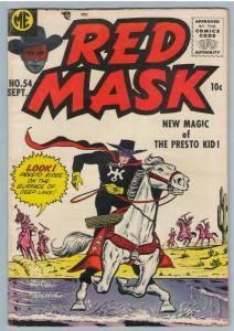 Red Mask 54 Sep 1957 VG-FI (5.0)