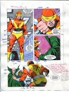 Justice Machine #24 Page #10 1988 Original Color Guide