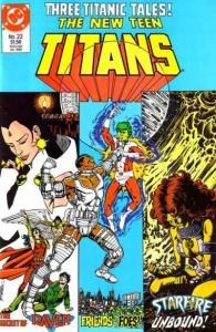 New Teen Titans (1984 series) #22, NM- (Stock photo)