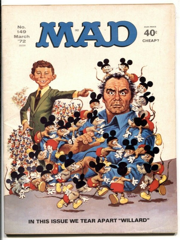 Mad-Magazine #149 1972--Willard parody cover- Borgnine