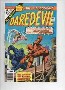 DAREDEVIL #4 King-Size Annual, VF Sub-Mariner Black Panther, 1976,more in store