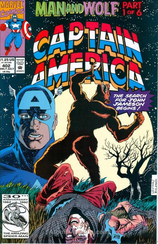 Captain America (1st Series) #402 VF/NM; Marvel | save on shipping - details ins