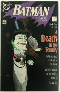 BATMAN#429 VF/NM 1989 'A DEATH IN THE FAMILY' DC COMICS
