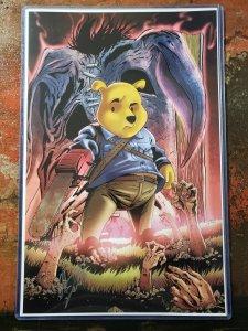 11x17 Adam Fields Signed Original House of Living Dead Pooh Print