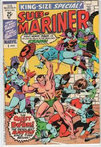 Sub-Mariner King Size Special #1 Namor versus Krang for the Crown of Atlantis