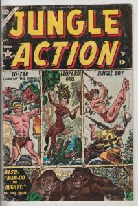 Jungle Action Golden-Age #1 (Oct-54) VG- Affordable-Grade Lo-Zar, Leopard Gir...