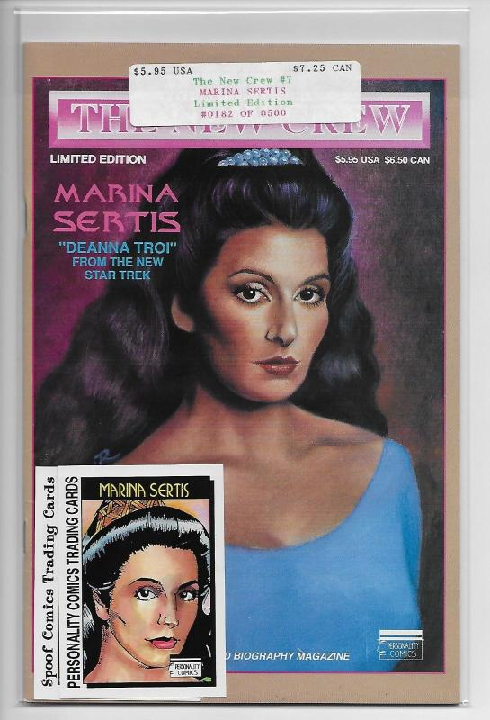 Star Trek Troi New Crew Marina Sertis #7 - Diamond Ltd Ed #182/500 (1992) - VF