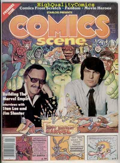 COMICS SCENE #1, VF/NM, Undergrounds, Stan Lee, Sy Barry, 1981
