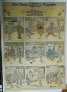 Percy The Robot Sunday Page by HC Greening from 12/1/1912 Full Page Size Rare !
