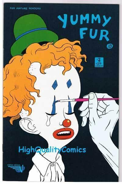 YUMMY FUR #18, VF+, Chester Brown, Indy, Vortex, 1986, more in store