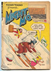 Mighty Mouse #11 1949- St John Golden Age- Skiing cover FAIR