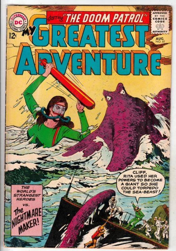 My Greatest Adventure #81 (Aug-63) VG/FN Mid-Grade Doom Patrol (Negative Man,...