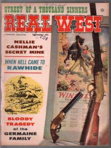 Real West 9/1962-Charlton-Winchester Story, Pt 3-Dalton Brothers-pulp thrills-VG