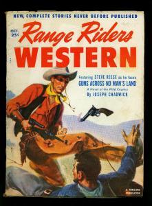 Range Riders Western Pulp October 1952- Steve Reese- Joseph Chadwick - VG