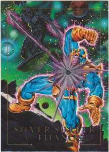 1992 Marvel Masterpieces #2-D Card Silver Surfer vs Thanos