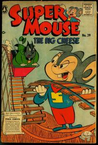 Supermouse The Big Cheese #39 1957- Funny Animals- Roller Coaster cover VG