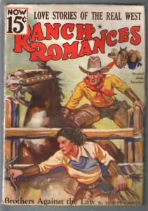 Ranch Romances 6/2/1936-Brothers Against The Law-John Drew GGA-FN