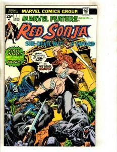 RED SONJA Marvel Feature # 1 FN Comic Book Feat. Conan Kull King Sword GK3