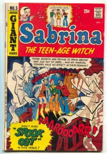 Sabrina The Teen-Age Witch #5 1972- Archie Giant- Spook Out VG