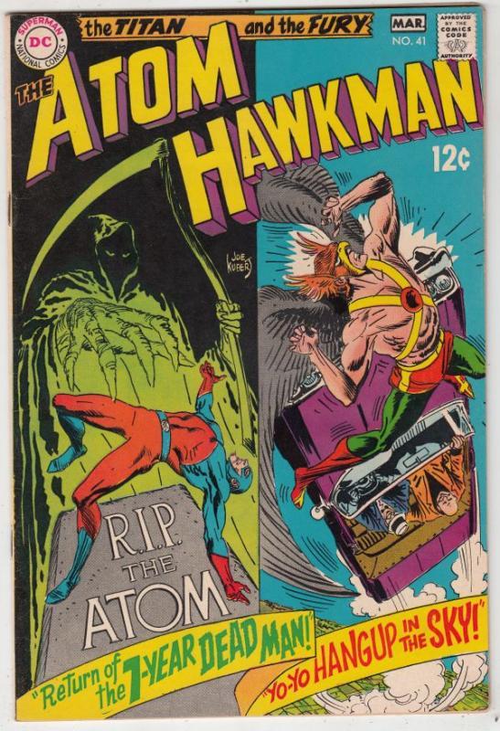 Atom and Hawkman #41 (Feb-69) NM/NM- High-Grade The Atom, Hawkman